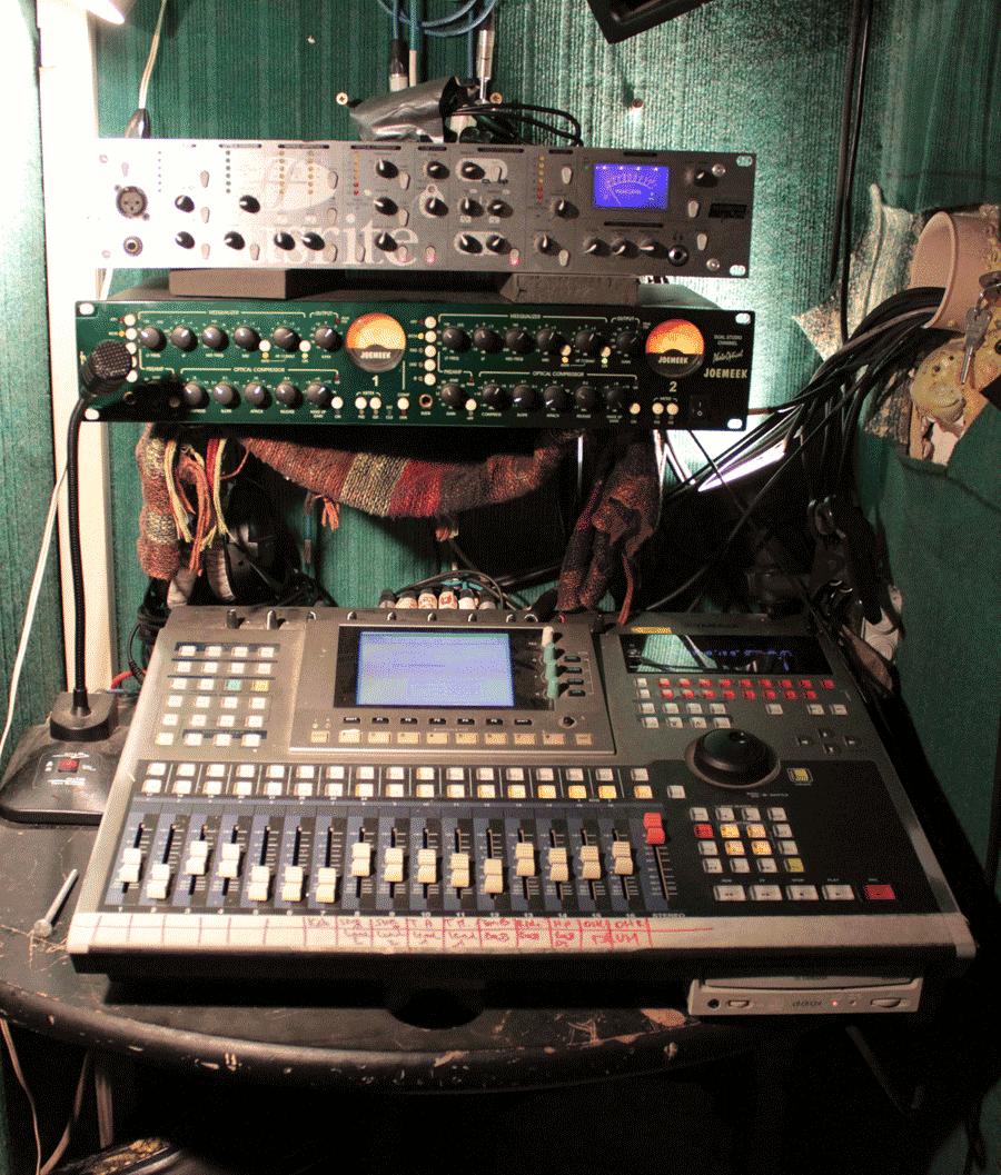 Cabine d'enregistrement
